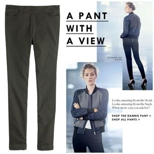 J.Crew Olive Zip-Back Twill Skinny 'Dannie Pant' 4